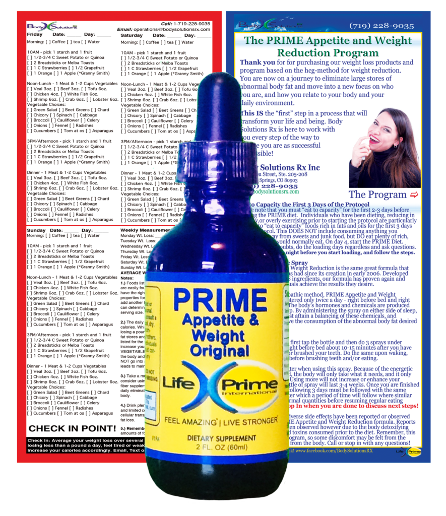 The PRIME Diet - Bottle and Materials
